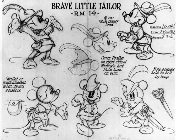 Brave Little Tailor model sheet