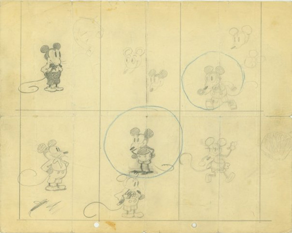 Early Mickey Mouse drawings