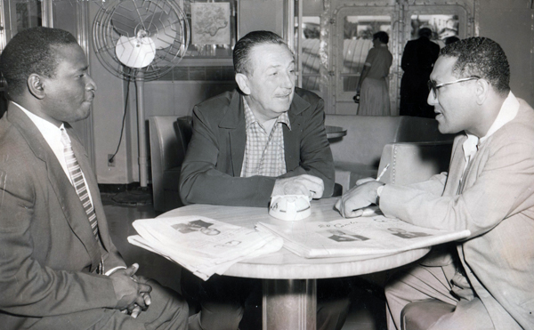 Walt with two reporters